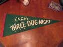 1970's I love the Three Dog Night green pennant