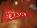 1970's I love Elvis red pennant