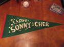 1970's I love Sonny & Cher green pennant