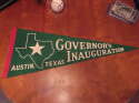 1960's Governor's Inauguration Austin Texas State green pennant