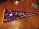 1960's Governor's Inauguration Austin Texas State purple pennant
