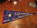 1960's Governor's Inauguration Austin Texas State blue pennant