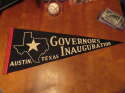 1960's Governor's Inauguration Austin Texas State black pennant