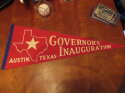 1960's Governor's Inauguration Austin Texas State red pennant