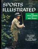 4/8 1957 Wells Peck Fisherman Sports Illustrated newsstand nm
