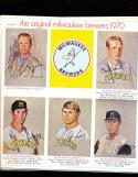 1970 The orginal Milwaukee Brewers McDonald's 6 card set