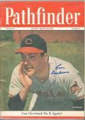 1949 Pathfinder Signed Lou Boudreau Indians magazine