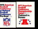 1977 AFC Championship Game Raiders vs Broncos  Press Media Guide