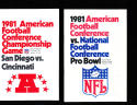 1981 AFC Championship Game Chargers vs Bengals Press Media Guide
