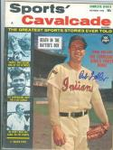 1962 Sports Cavalcade  MAGAZINE Signed Bob Feller INDIANS em