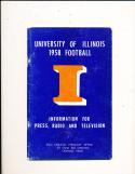 1958 University of Illinois  football press media guide ex CFBmg1
