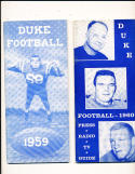 1959 duke  football press media guide em CFBmg1