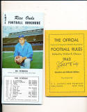 NCAA football Rules 1945 em walter Okeson signed by McKale (arizona) CFBmg18