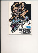 1968 Detroit Lions Press Guide