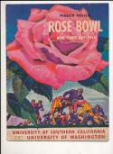 1944 Rose Bowl football program USC Washington