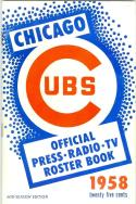 1958 Chicago Cubs mid seasion press media guide nm bx cubs