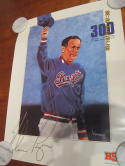 Nolan Ryan Texas Rangers 300th win 7/31 1990 poster nm b