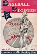 1943 The Sporting News Baseball Register - bxbr