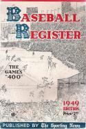 1949 The Sporting News Baseball Register - Gene Bearden   Bx reg