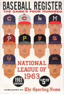 1963 The Sporting News Baseball Register - | Bx reg
