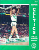 larry Bird boston Celtics yearbook 1980-81