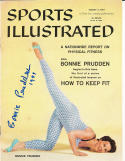1957 8/5 Bonnie Prudden Signed Sports Illustrated newsstand d11