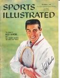 1959 9/7  Alex Olmedo Tennis  Signed Sports Illustrated newsstand