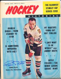 1964 march Hockey Pictorial Pierre Pilote Chicago Blackhawks signed