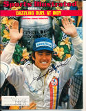 1974 6/3  Johnny rutherford indy 500 Signed Sports Illustrated