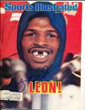 1978 2/27 Leon Spinks Boxing Signed Sports Illustrated em label