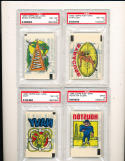 1965 topps rub offs Navy psa 8  football (highest graded)