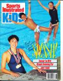1989 June Janet Evans newsstand Signed Sports Illustrated