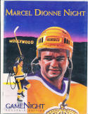 Marcel Dionee Night Signed Game night Los Angeles Kings program nrmt