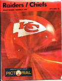 11.3.1968 Raiders Chiefs football program