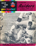 12.3.1966 Raiders Jets football program
