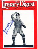 1937 Rick Ferrell signed Literary Digest em