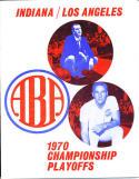 1970 ABA 1970 championship Indiana Stars program