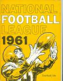 1961 NFL national football league yearbook nm Cowboys