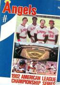1982 Angels ALCS program Reggie Jackson  mt