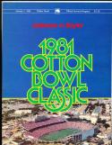 1981 Alabama vs Baylor Cotton Bowl football program