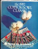 1982 Alabama vs Texas Cotton Bowl football program