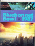 1987 Pittsburgh vs Texas Bluebonnet Bowl football program