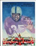 12/26 1955 NFL Championship Program Rams vs Browns scored em