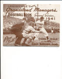 1941 louisville Baseball guide yearbook - signed by  Thomas Yawkey