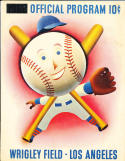 1952 new York Giants vs Cleveland Indians spring training program in Los Angeles