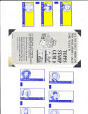 1962 topps stamp american test issues  2 Babe ruth uncut 3 card proof sheet