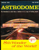 1966 Houston astrodome baseball yearbook em/nm!