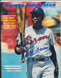 1969 8/18 Signed Sports Illustrated Hank Aaron em