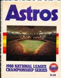 1980 Houston Astros vs Philadelphia Phillies Playoff baseball program