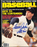 1980 October Baseball Magazine Tommy John 288 wins signed